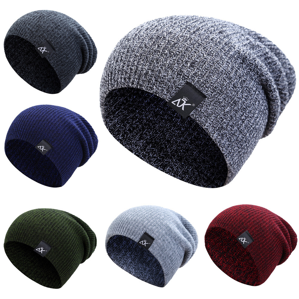 103b919beef Hip-hop Acrylic Fibres Knitting Hat Keep Warm Winter Fur Ball Hat ...