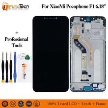 Replacement LCD Touch Screen Digitizer Full Assembly for XIAOMI Pocophone F1 Parts LCDs Xiaomi with Frame