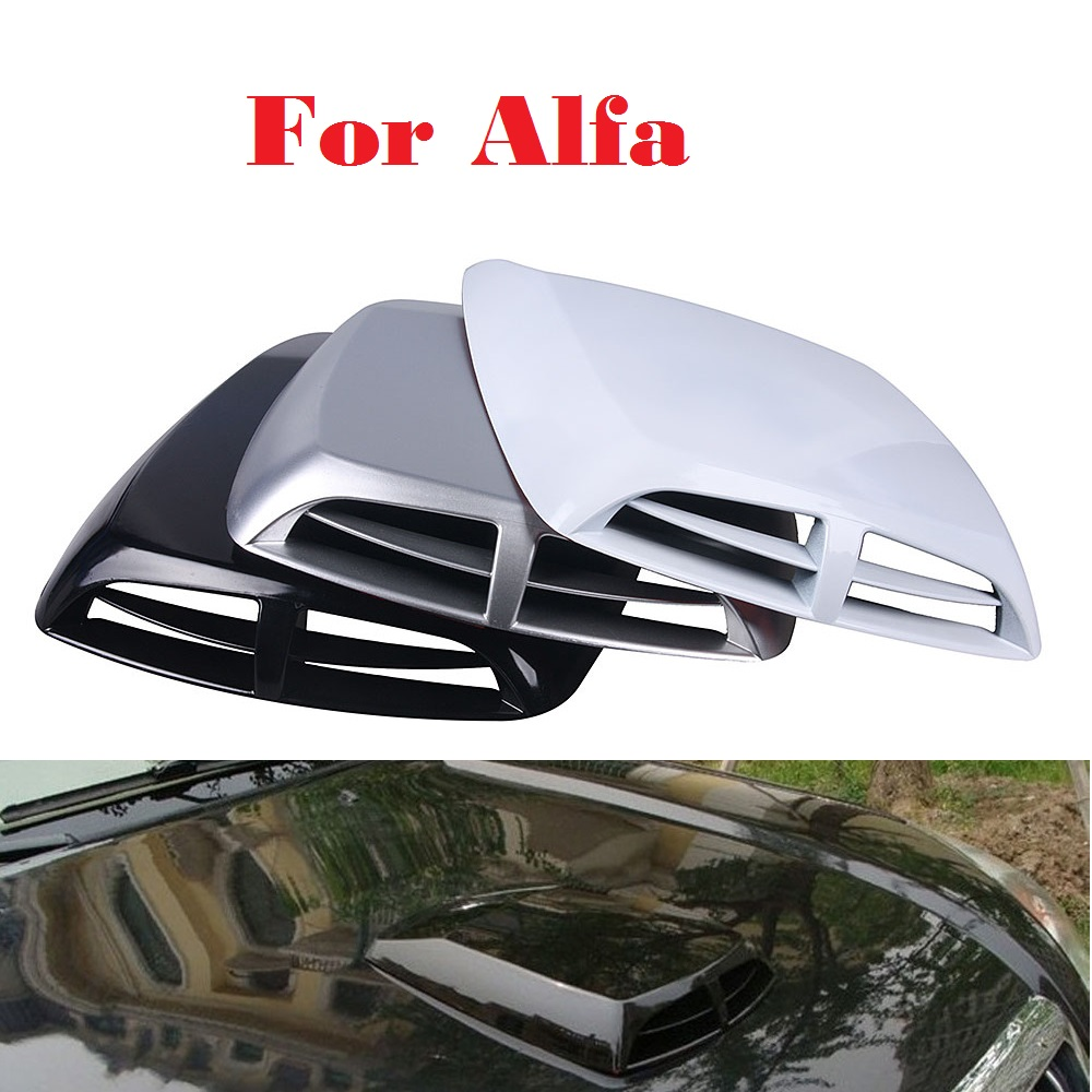 2017 Air Flow Intake Hood Scoop Vent Bonnet Cover Car Stickers For Alfa Romeo Disco Volante Giulietta GT GTV MiTo Spider alfa romeo 147 156 gta gt 166 gtv spider lancia thesis v6 forged connecting rod high performance free shipping quality warranty
