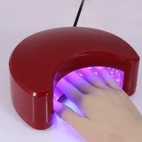 Professionale Moon Shape 9 W LED Pezzi di Charme Finger Funzione di Dissipazione Del Calore Che Cura Lampada UV Nail Gel Polish Dryer