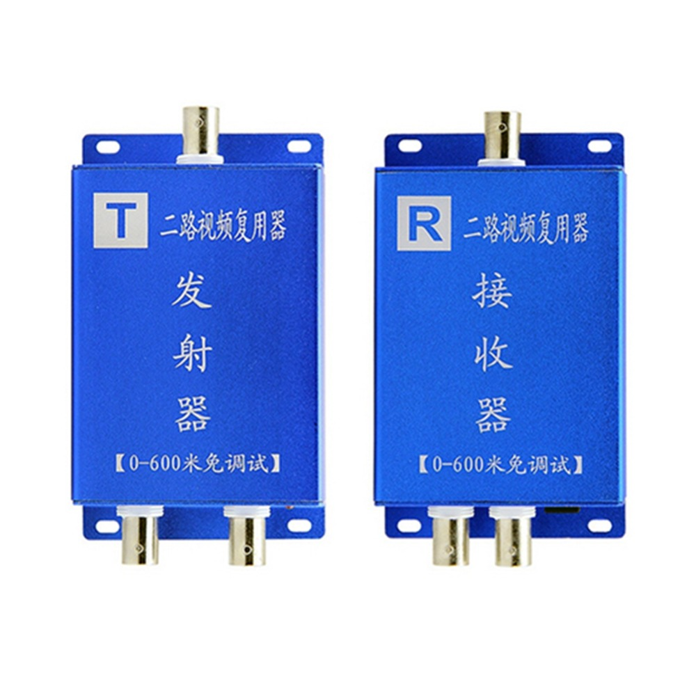 Cctv Camera 2ch Coaxial Cable Video Signal Multiplexer Adder Video Converter/ Transmission Immunity With Signal Transmission