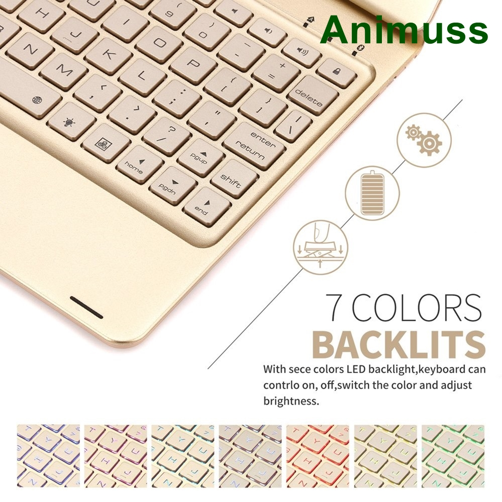 for iPad 6th Generation Case with Keyboard 7 Colors Adjustment Backlit and Breathing Light Keyboard with 360 Degree Rotatab in Tablets e Books Case from Computer Office