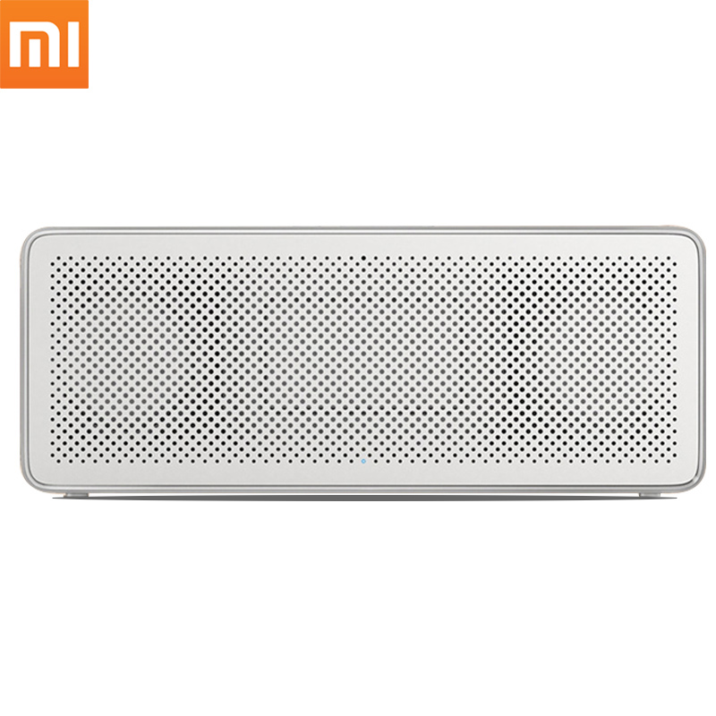 Original Xiaomi Bluetooth Speaker 2 Square Box Stereo Portable Mini Music Player MIUI Metal Wireless Speakers For Samsung Xiaomi original xiaomi mi bluetooth speaker stereo portable wireless mini mp3 player music speakers hands free calls