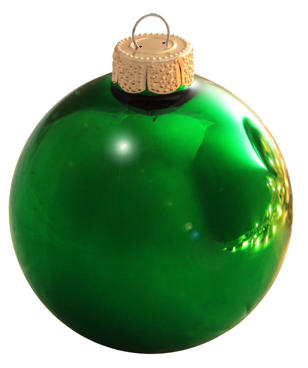 Glass globe ornaments - Free Shipping Event Party Bauble Ornaments Christmas Xmas Tree Glass Balls Decoration 80mm Christmas Green Ball