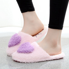 2019 New Women Slippers with Cute Love Spring&antumn Home Woman Warm Flip Flops Female Non-slip Couple Platform Slipper