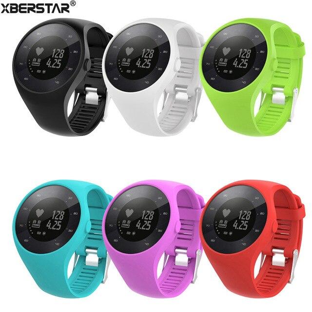 891302cb1e1f0c XBERSTAR silikonowy pasek do zegarka pasek na Polar M200 z systemem GPS  zegarek bransoletka nadgarstek od