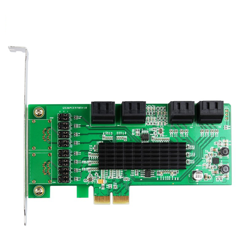 Best seller Marvel chipet Multi port PCI Express internal SATA III 6g 8 port Controller Card PCIe 2.0x2 with Low Profile Bracket-in Building Automation from Security & Protection    3