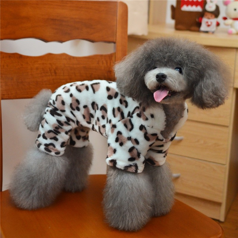 Y53 Warm Pet dog Fleece Clothes 4 legs font b Hoodies b font Jumpsuit for Small