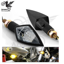 free shipping Motocycle Accessories universal Modified parts for yamaha kawasaki Triangle black motorbike Turn signal light LED