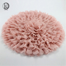 (Diameter=49~50cm) Flower Style Mat Soft Chiffon Cushion Photography Baby Props Newborn Photographic Newborn Props