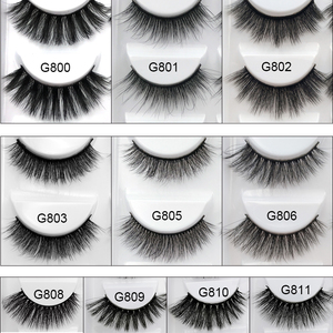 Image 2 - Wholesale Eyelasehes 50 pairs 3D Mink Hair False Eyelashes Natural/Thick Long Eye Lashes Wispy Makeup Beauty Extension Tools