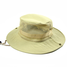 Men's Breathable Fishing Hat Summer Shade Cap Outdoor Wide Brim Hat UV Protection Cap Men Hiking Sombrero Gorro Hats Foldable