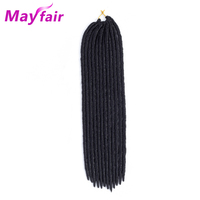MAYFIAR 18 24 Strands Straight Faux Locs Crochet Hair Synthetic Faux Locs Hair Braid Crochet Faux Locs Hair For Women 110g/Pack