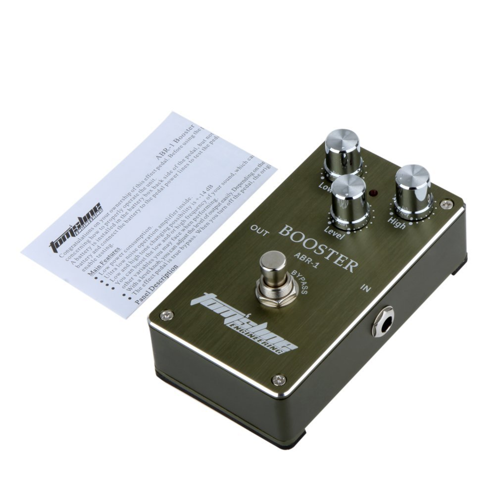 US $31 99  Aroma ABR 1 Aluminum Alloy Housing Low Noise Booster Guitar  Effect Pedal Built in operation amplifier with Ture Bypass-in Guitar Parts  &
