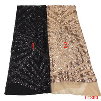 African lace fabric Sequins lace fabric 2019 new arrival sequins lace fabric for party alibaba express HJ1800 1
