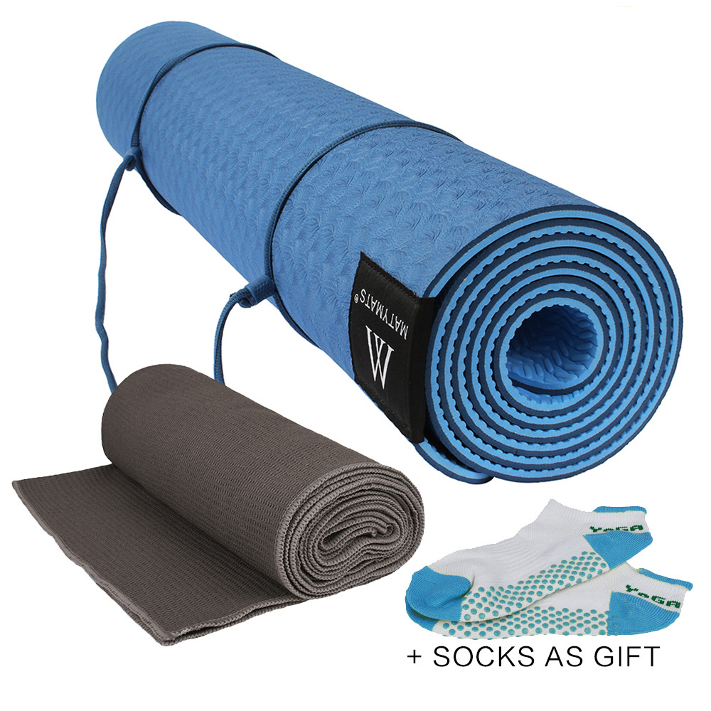 mat extra fit products exercise incline thick mats dragonfruit yoga