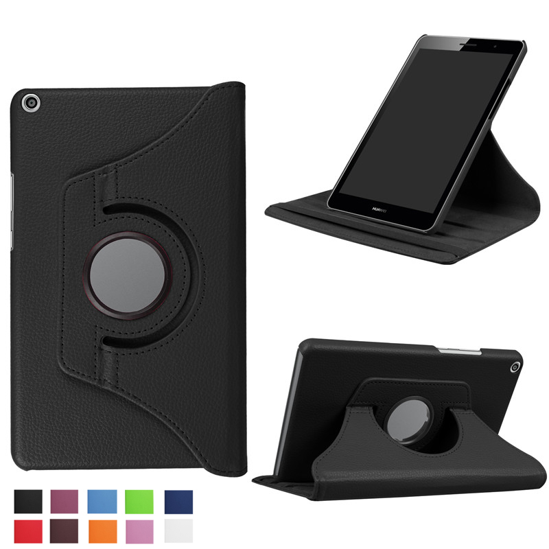 For Huawei MediaPad T3 8.0 inch KOB-L09 KOB-W09 Honor play Tablet Case 360 Rotating Bracket Flip Stand Leather Cover