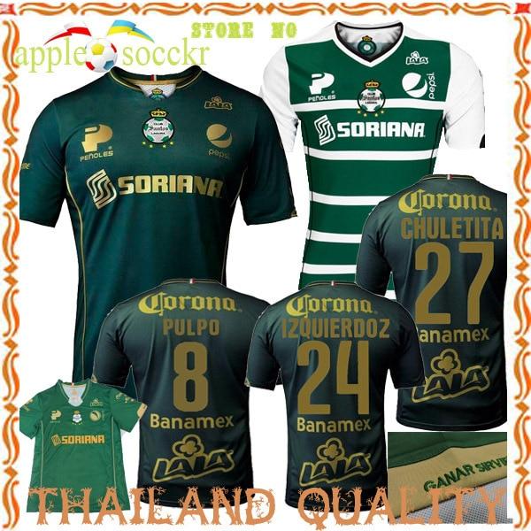 f12714045eb Santos Laguna jersey 2014 2015 Third Green Santos Laguna QUICK Home Away  Soccer Jersey Football Shirt J.MOLINA A.RENTERIA 2015