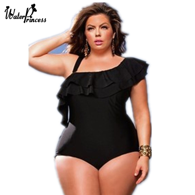 WATER PRINCESS Bikini 2017 Swimsuit Swimwear Plus Size Black women s  swimming suit Biquini Summer Bather Beach Wear Bathing Suit
