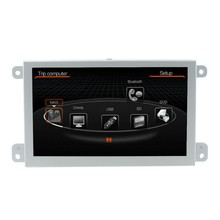 Free Shipping 7 inch Car DVD GPS Navigation Multimedia Player For AUDI A6 S6 Q7 2004 2005 2006 2007 2008 2009 Bluetooth BT USB