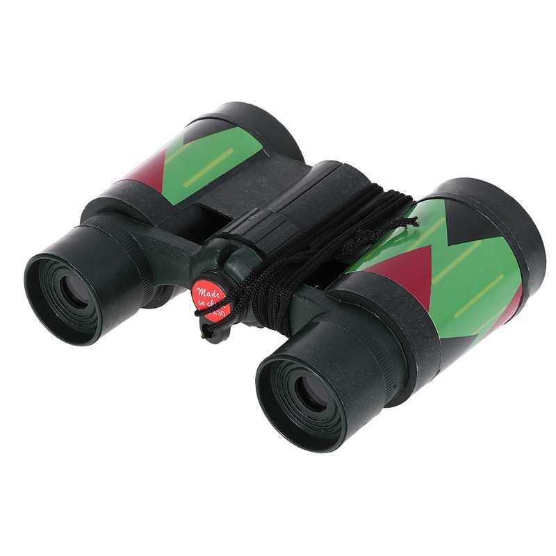 Nieuwe Stijl Kids Telescoop Kinderen 10x30 Verrekijker Camouflage Outdoor Jacht Draagbare Touw