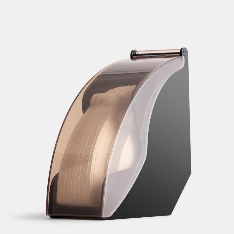 V60 filtro titular de papel en forma de cono de papel de filtro de filtros de café titular estante de almacenamiento de acrílico con a prueba de polvo cubierta