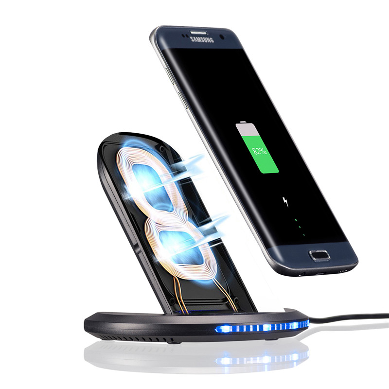 Fast Wireless Charger For Samsung Galaxy S8 S7 Dock Mobile