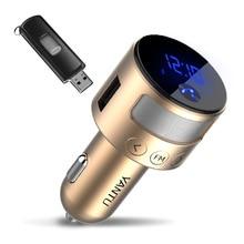 YANTU Car Splitter Cigarette Lighter Socket MP3 Player Wireless Bluetooth Radio With FM Transmitter with AUX Line