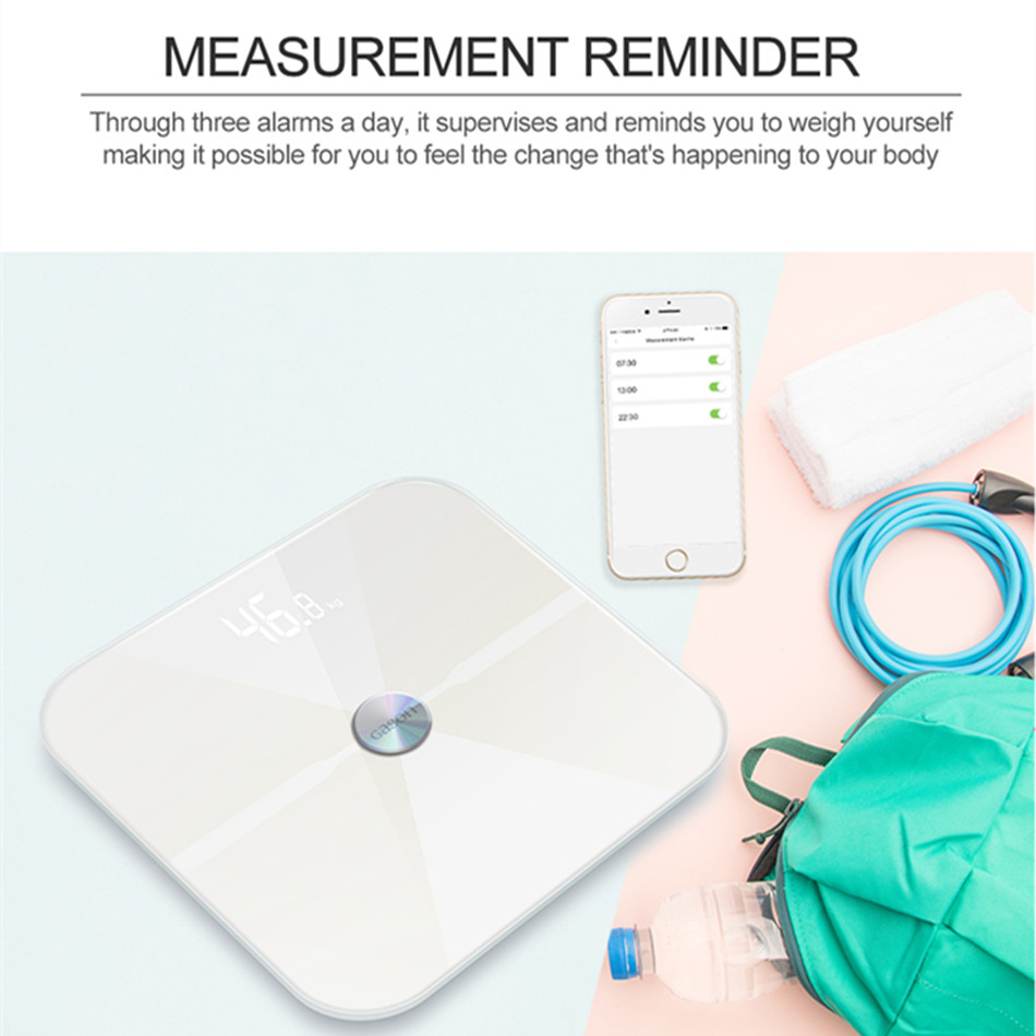 T6 Smart Scales Floor Scientific Electronic LED Digital Body Weight Bathroom Household Balance Bluetooth APP Android bathroom glass smart household electronic floor scales lcd