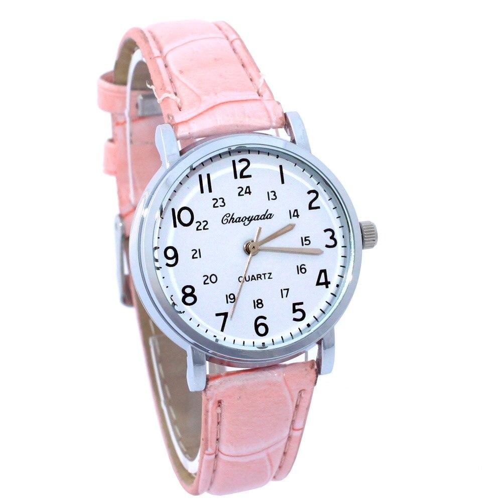 Uhren Mode Marke Schöne Kinder Uhren Mädchen Täglich Wasserdicht Rosa Leder Cartoon Uhr Quarz Armbanduhren Für Mädchen U63 Und Verdauung Hilft