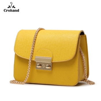 女性のためのバッグ2018革ハンドバッグチェーンソリッドショルダーバッグ高級ハンドバッグ女性バッグデザイナーミニ女性メッセンジャーバッグメッセンジャーバッグ