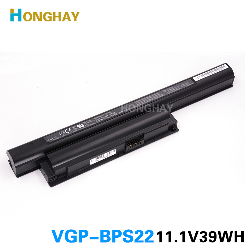 HONGHA laptop battery for BPS22 VGP-BPS22 VGP-BPL22 VGP-BPS22A VGP-BPS22/A notebook battery for SONY VAIO E bateria akku наземный высокий светильник fumagalli globe 250 g25 158 000 aye27