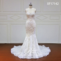 High end мечта элегантные кружева Русалка Свадебные платья 2019 сексуальный верх рукав труба китайское свадебное платье плюс размер XF17142