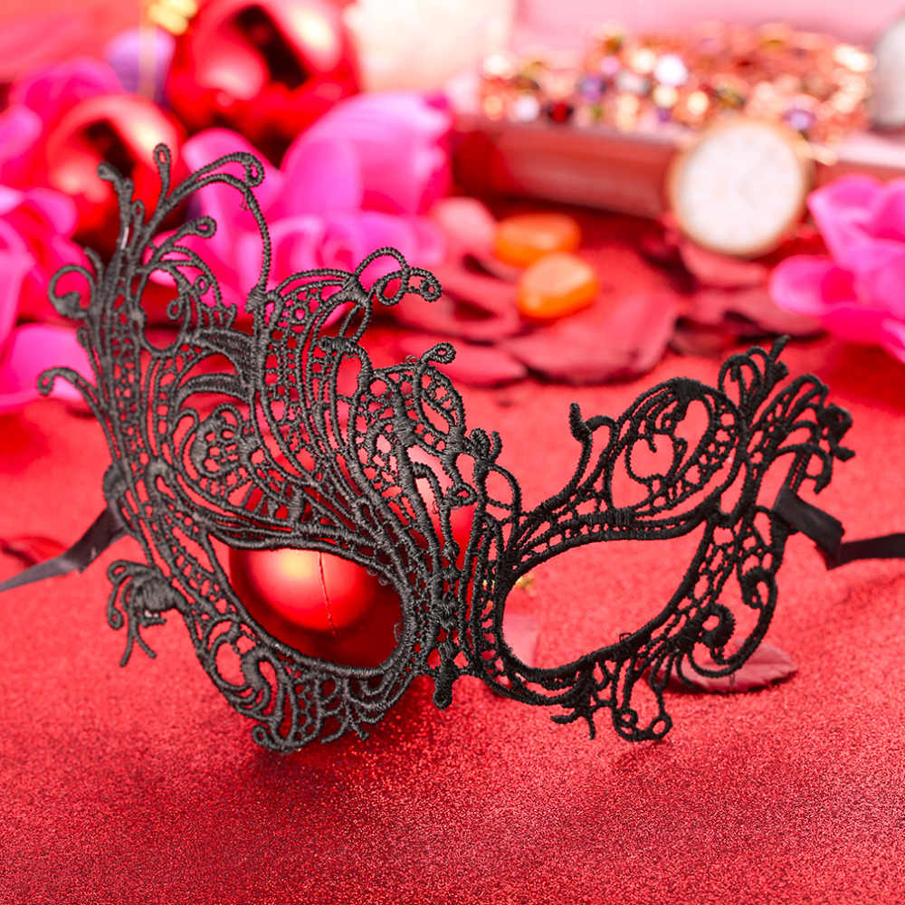 2017 Black Birds Style Sexy Girls Ladies Women Lace Party Face Makeup Mask New Party Halloween Party Dress Costume Accessory