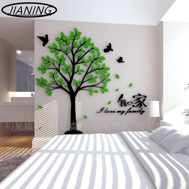 Les Amateurs D'Oiseaux Arbre Stickers Muraux Acrylique Perspective