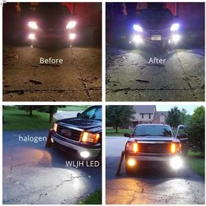 Image 4 - WLJH 2x DC12V  24V High Power White 3570 CSP Chip H3 LED Replacement Bulbs For Car Fog Lights, Daytime Running Lights, DRL Lamps
