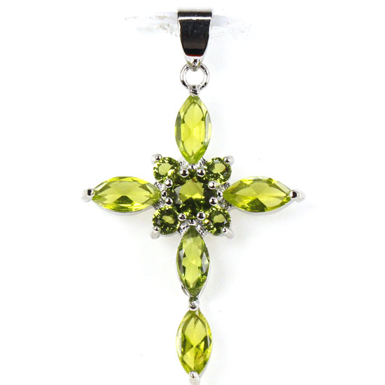 Online get cheap green peridot cross pendant aliexpress 925china mozeypictures Image collections