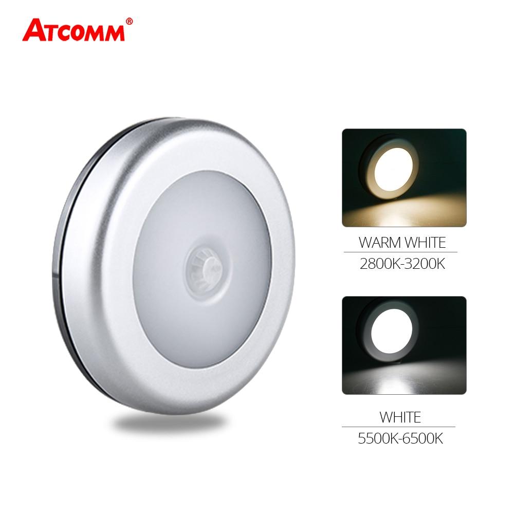 Led Night Lights 8 Led Light Control Pir Auto Body Motion Sensor Night Light Under Cabinet Wall Lamp Intelligent Lighting Bedroom Kitchen Led Lamps