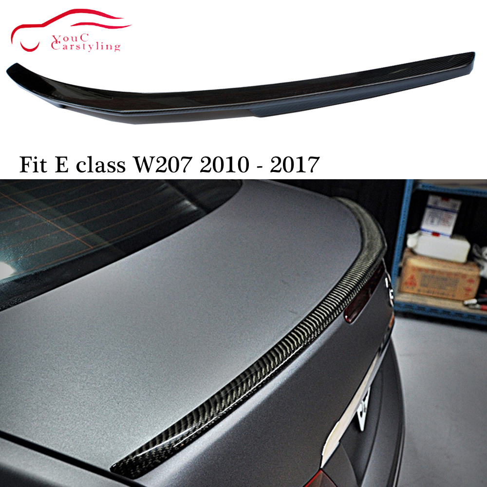 W207 AMG Style carbon fiber Rear Spoiler Trunk Boot Lip for <font><b>Mercedes</b></font> E class C207 2-door <font><b>Coupe</b></font> 2010 - 2017 E200 E250 <font><b>E300</b></font> E350 image