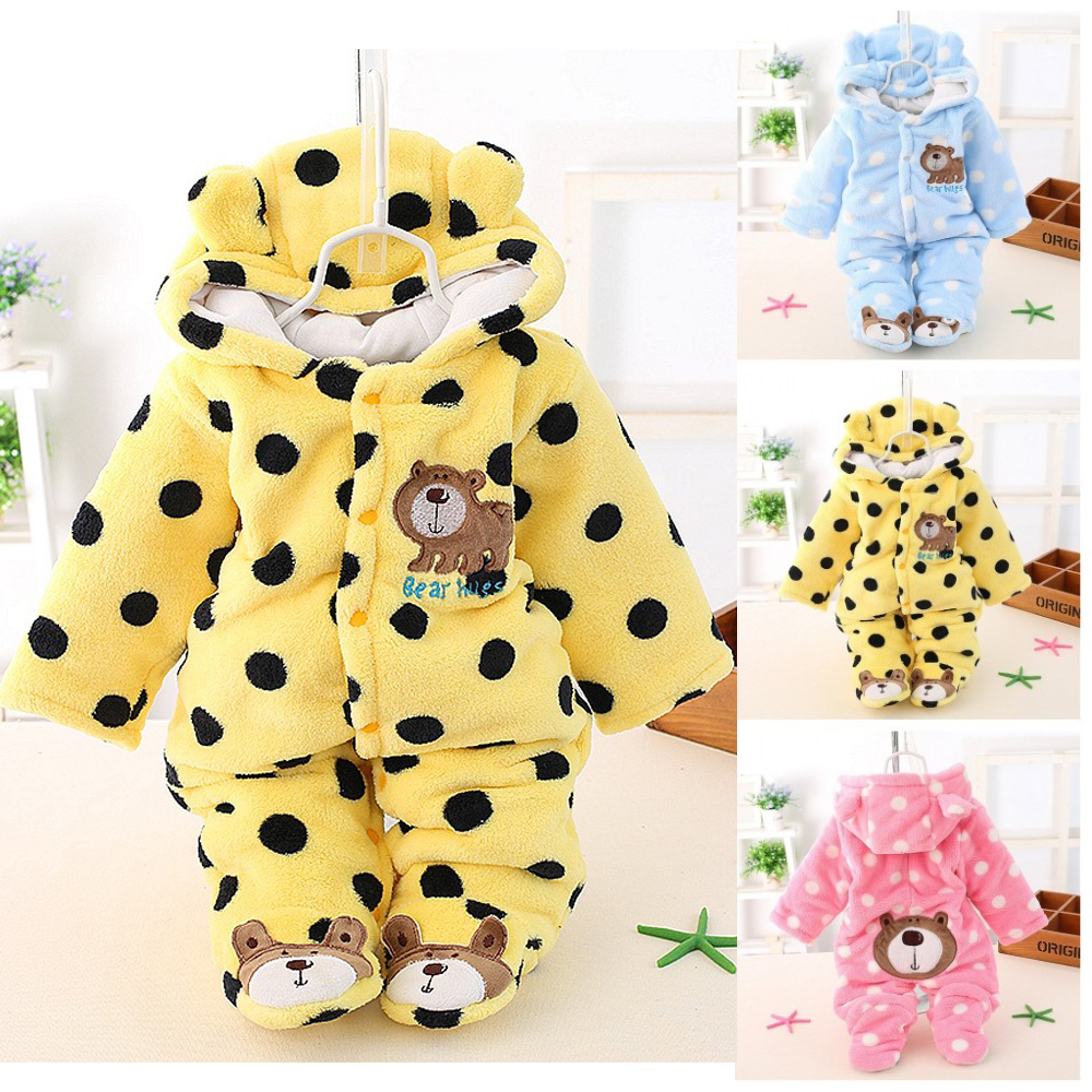 Baby Boy Coverall Infant Romper Jumpsuit Hooded Long-Sleeve Girls Winter Roupa Autumn