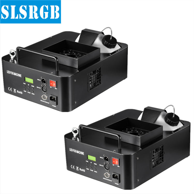 SLSLITE (2PCS) 1500W Led Fogger Smoke Machine LED Fog Machine Stage Haze Machine