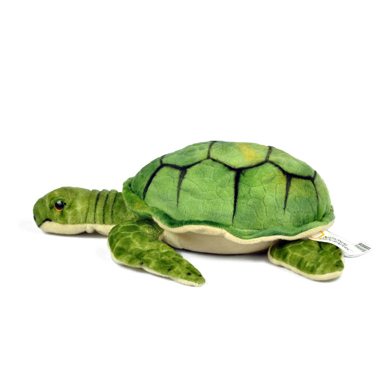 National Geographic super green plush turtle doll super soft and kawaii stuffed tortoise for baby in Stuffed Plush Animals from Toys Hobbies