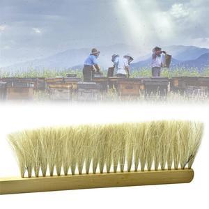 Image 3 - Beekeeping Tools Wood Wasp Sweep Brush Two Rows Of Horse Tail Hair New Bee Brush Beekeeping Equipment