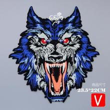 embroidery angry tigers patches for jackets,angry badges jeans,animals appliques A109
