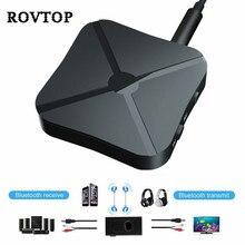 2 in 1 Bluetooth Trasmettitore Ricevitore Musica Stereo Senza Fili di Bluetooth Audio Adattatore 3.5 millimetri AUX Audio Per La TV PC MP3