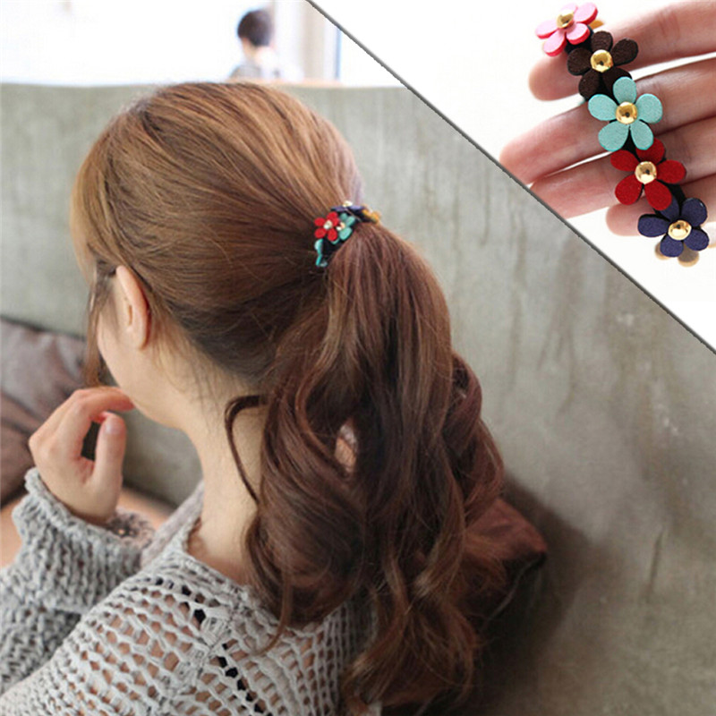Open-Minded Women Hair Accessories Pearls Beads Headbands Ponytail Holder Girls Scrunchies Vintage Elastic Hair Bands Rubber Rope Headdress Strong Packing Women's Hair Accessories