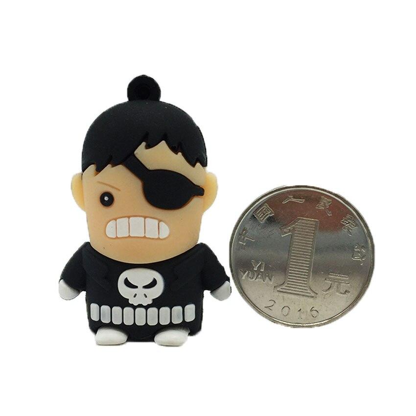 Cartoon Punisher Punish Man Hero Disk USB Stick Pendrive Stick Device Pen Drive 128GB 64GB 32GB 16GB 8GB 4GB USB Flash Drive