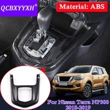 QCBXYYXH Car Gear Box Frame Cover For Nissan Terra Navara NP300 2018 2019 Car styling Internal