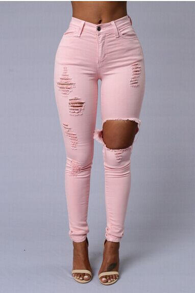 Popular Hot Pink Skinny Jeans-Buy Cheap Hot Pink Skinny Jeans lots