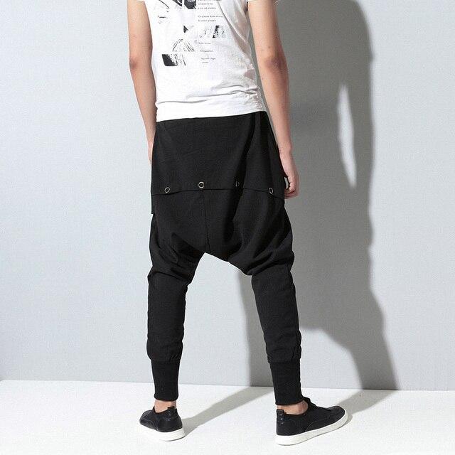 Moomphya 2017 new hip hop dance Baggy jogger pants elastic waist fashion multilayered draped street wear Cross pants Harem pants 2
